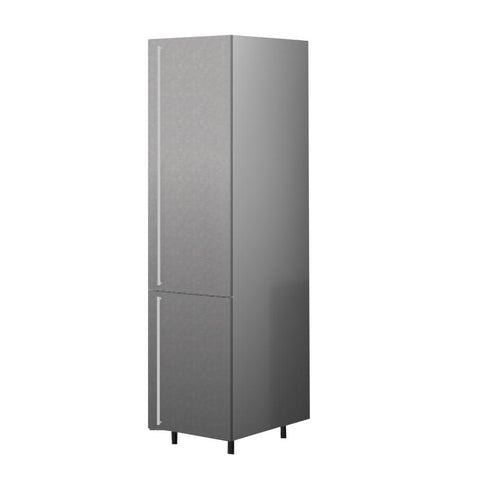 60 Cm. Grey Wave Tall Unit/Fridge with 2 Doors Right