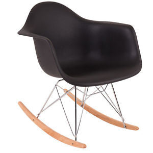 Chair - pp  material and chromed wood legs black