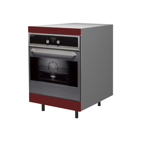 60 Cm. Burgundi High Gloss Base Oven Unit