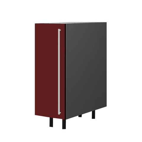 30 Cm. Burgundi High Gloss Base Unit With Shelf Left