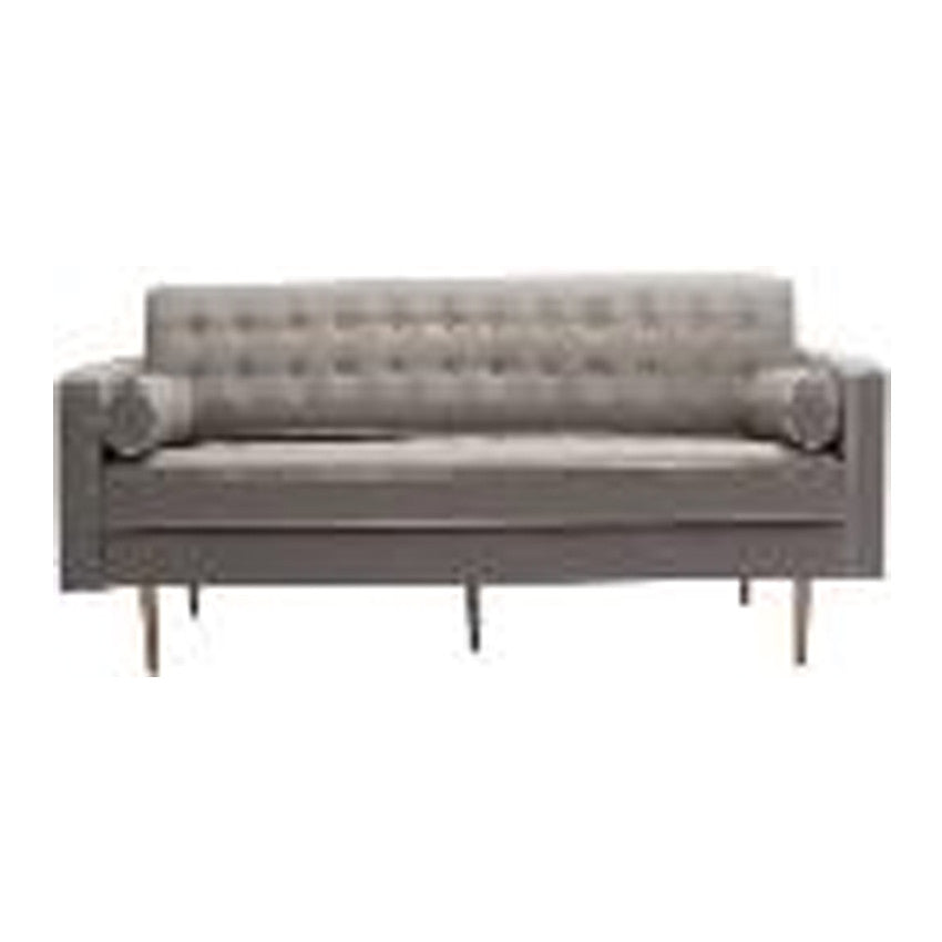 3S-Sofa bed Body Light Grey - Button White Piping Dark grey Sofa Size:220*85*78   Bed Size:220*192*46