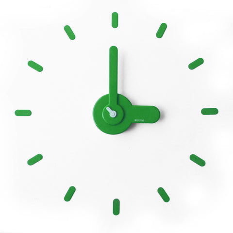 On-time wall clock Lady Green