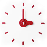 On-time wall clock Lady Red