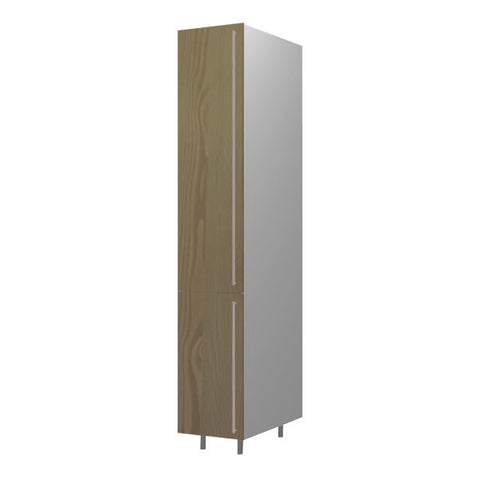 45 Cm. Champagne Avola Tall Unit With Shelves Left