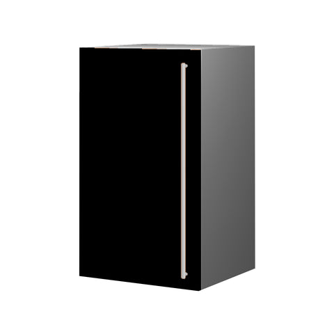 45 Cm. Black High Gloss Upper Unit With Shelf Left