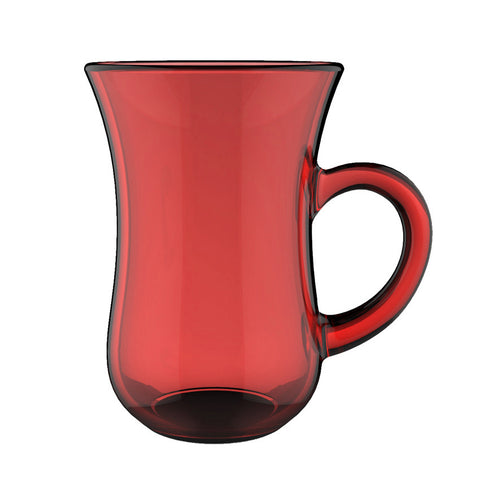 Aladin Full Painting CUP with big hand  H 9.4 T 6.6 CL 14  Red