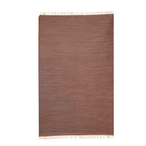 Plaino Brown Wool Rug