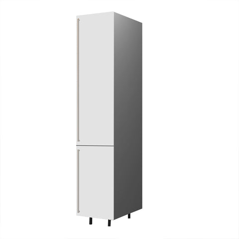 45 Cm. White High Gloss Tall Unit With Shelf  Right
