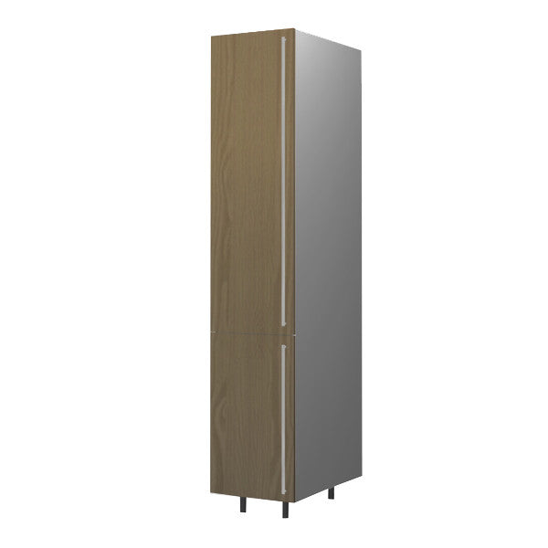 40 Cm. Champagne Avola Tall Unit With Shelves Left