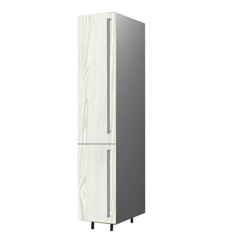 40 Cm. Hacienda White Tall Unit With Shelves Left