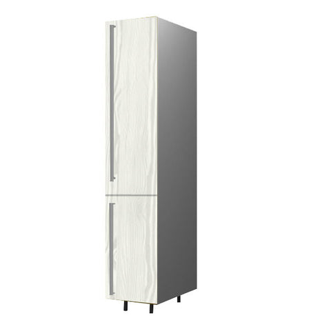 40 Cm. Hacienda White Tall Unit With Shelves Right