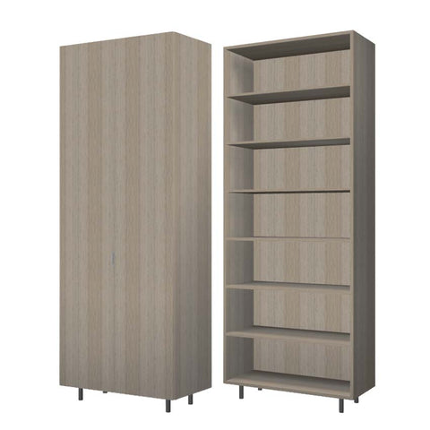 90 Cm. Green Wardrobe (White Interior ) with shelves  40 cm Depth