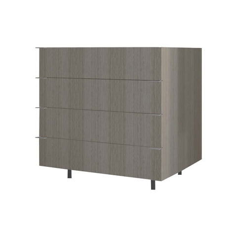90 Cm. Green Drawers Unit with 4 Drawers