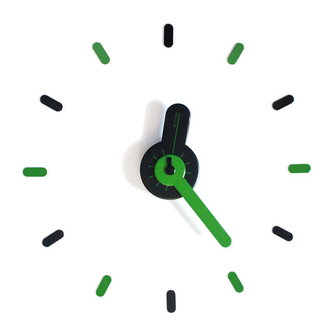 On-time wall clock Green Guitar