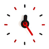 On-time wall clock Red Guitar