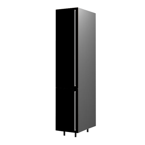 45 Cm. Black High Gloss Tall Unit With Shelf Left