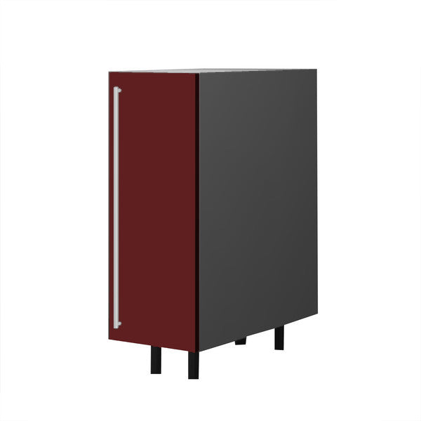 30 Cm. Burgundi High Gloss Base Base Unit With Shelf Right
