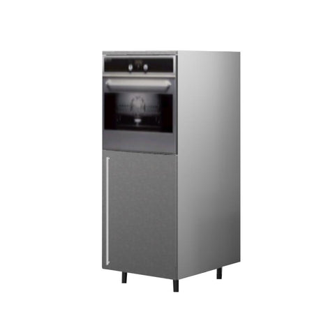 60 Cm. Grey Wave Medium Base Oven Unit Right