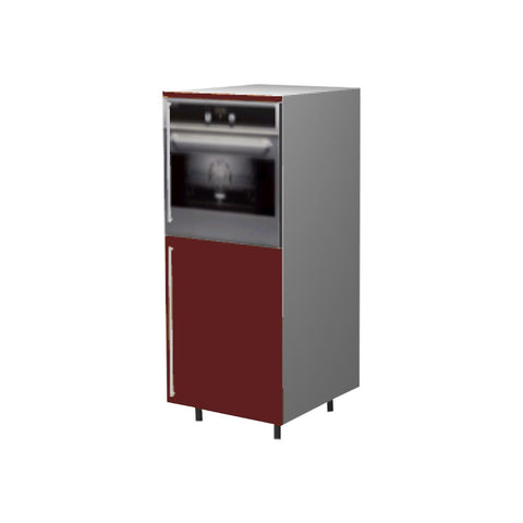 60 Cm. Burgundi High Gloss Medium Base Oven Unit Right