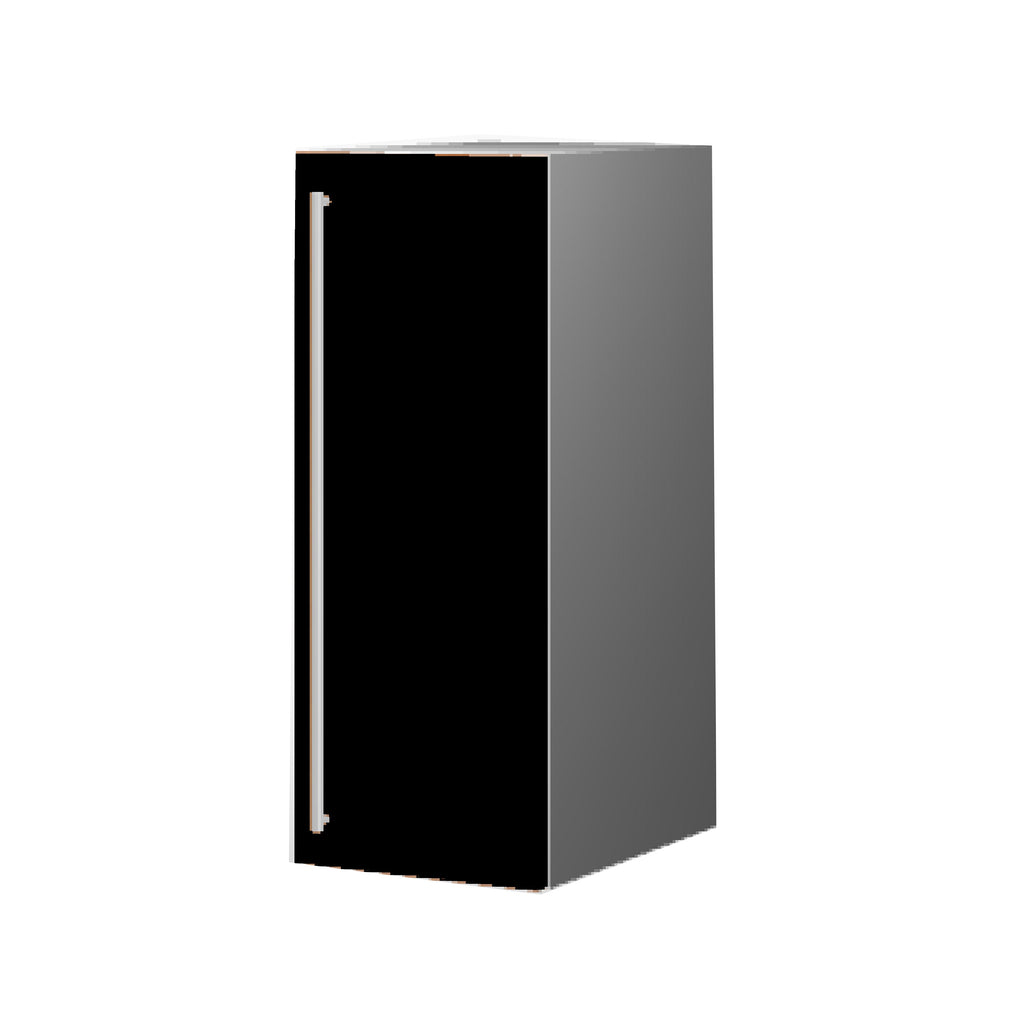 30 Cm. Black High Gloss Upper Unit With Shelf Right