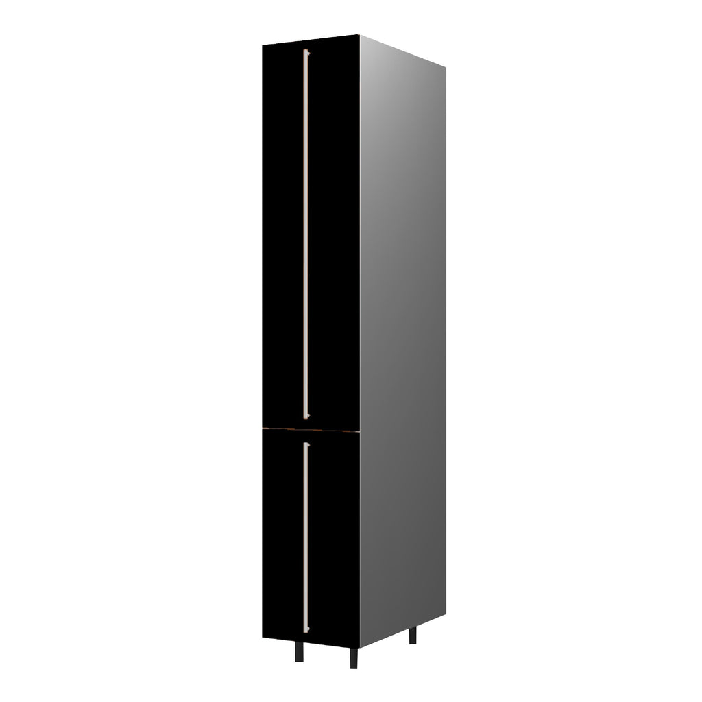 40 Cm. Black High Gloss Tall Pullout  Unit With Drawers