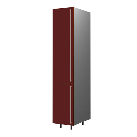 45 Cm. Burgundi High Gloss  Medium Tall Unit With Shelf Right