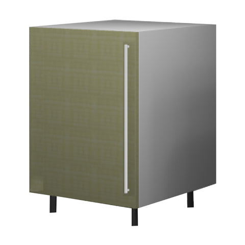 60 Cm. Greenish Base Unit With Shelf Left