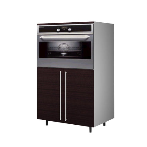 90 Cm.  Wengee Mali Medium Base Oven Unit with Shelf & 2 Doors