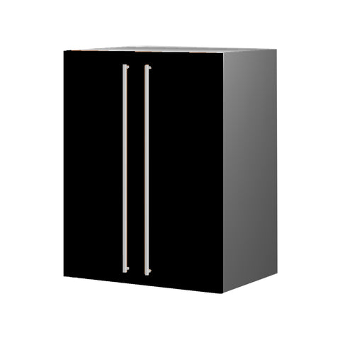 60 Cm. Black High Gloss Upper Unit with Shelf & 2 Doors