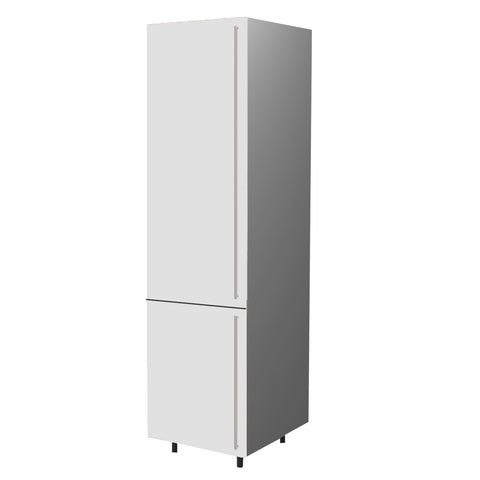 60 Cm. White High Gloss Tall Unit/Fridge with 2 Doors Right