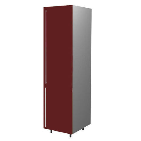 60 Cm. Burgundi High Gloss Tall Unit/Fridge with 2 Doors Right