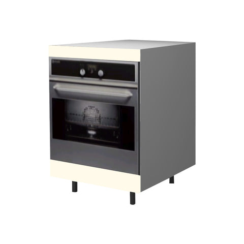 60 Cm. Cream High Gloss Base Oven Unit