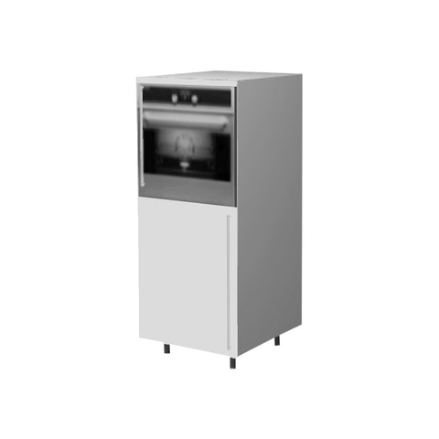 60 Cm. White Laminated Medium Base Oven Unit Left