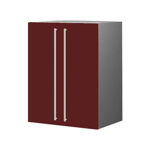 60 Cm. Burgundi Upper Unit with Shelf & 2 Doors