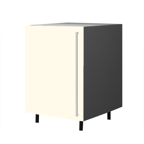 60 Cm. Cream High Gloss Base Unit With Shelf Left