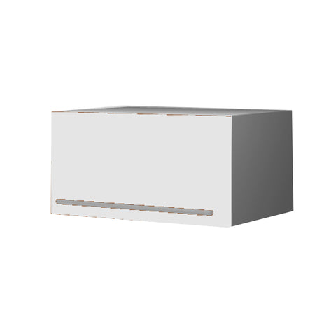 60 Cm. White Laminated Top Box Upper Unit