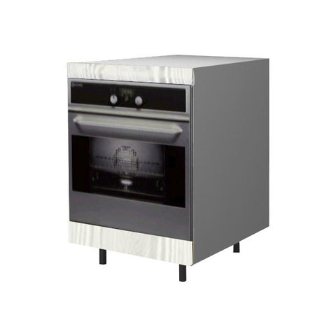 60 Cm. Hacienda White Base Oven Unit