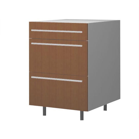 60 Cm. Sand Larch Base Unit 3 Drawers