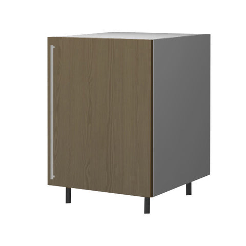 60 Cm. Champagne Avola Base Unit With Shelf Right
