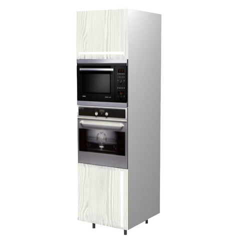 60 Cm. Hacienda White Tall Oven/Microwave Unit Left