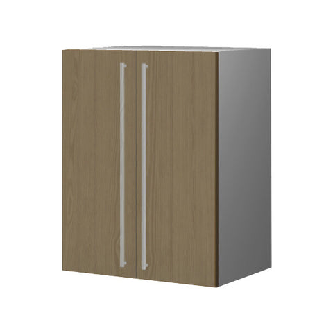 60 Cm. Champagne Avola Upper Unit with Shelf & 2 Doors