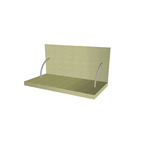 60 Cm. Greenish Spices Shelf With Cladding