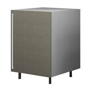 60 Cm. Grey Brown Avola Base Unit With Shelf Right