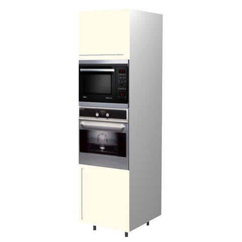 60 Cm. Cream High Gloss Tall Oven/Microwave Unit Right