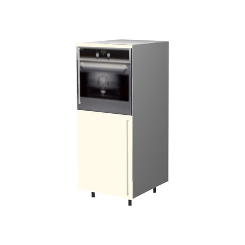60 Cm. Cream High Gloss Medium Base Oven Unit Left