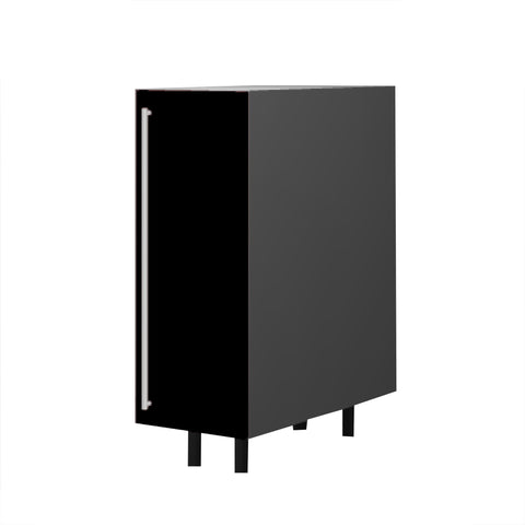 30 Cm. Black High Gloss Unit With Shelf  Right