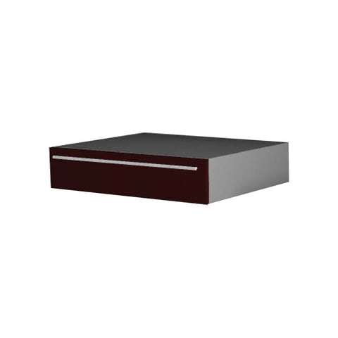 90 Cm. Dark Red High Gloss Drawer Dresser Unit