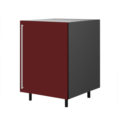 60 Cm. Burgundi High Gloss Base Base Unit With  Shelf Right