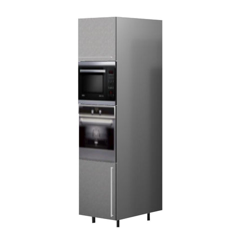 60 Cm. Grey Wave Tall Oven/Microwave Unit Right