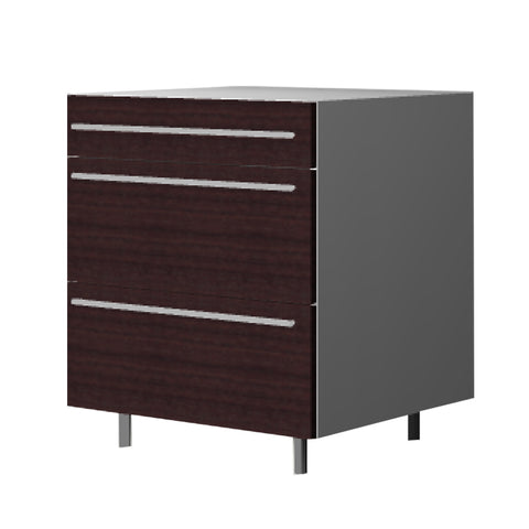 90 Cm. Wengee Mali Base Unit 3 Drawers